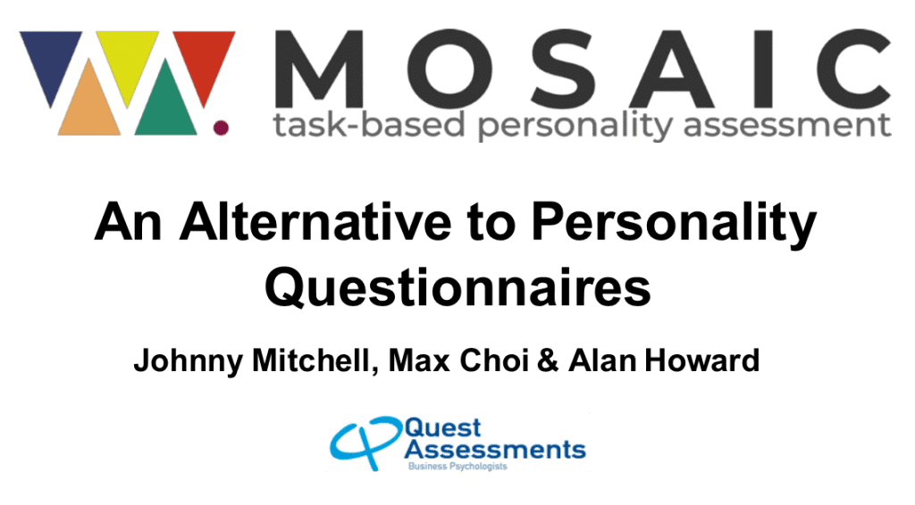 Task-Based Personality Assessments