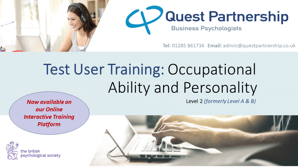 BPS Test User: Occupational